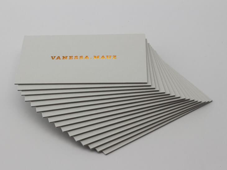 Visitenkarten Mauz Colorplan Extradick Schlichte